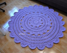 PROMOTION Bohemian Rug 56in (140 cm) nursery carpet crochet agnes round rug tapis crochet hippie shabby rund teppich floor decor houseware