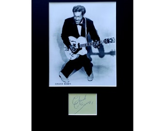 CHUCK BERRY AUTOGRAPH photo display