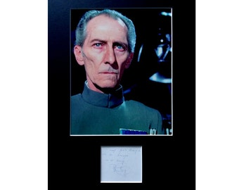 PETER CUSHING AUTOGRAPH photo display Star Wars Grand Moff Tarkin