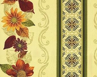 Autumn Splendor Cream Stripe by Kanvas for Benartex Quilting Fabric