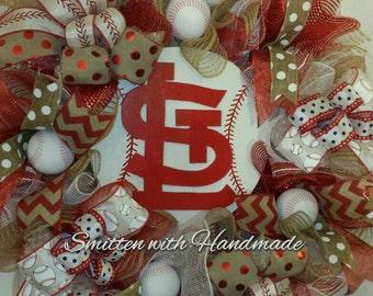 St Louis Cardinals Wreath, St  Louis Cardinals Baseball Wreath, STL Cardinals Wreath, STL Decor , Cardinals Baseball, Cardinals Wreath