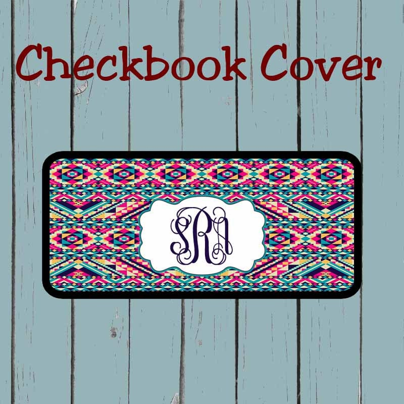Checkbook Cover Pattern : Checkbook cover aztec tribal pattern design personalized
