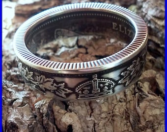925 Sterling Silver Canada 25 Cent Coin Ring