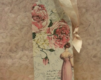 Hanging Tags / Bookmarks / Tree decorations: Victorian Woman (3)