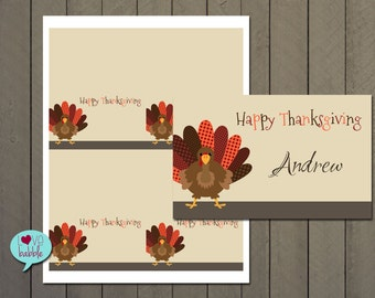 Thanksgiving, Halloween, Fall food label tents placecards  - PRINTABLE DIGITAL FILE