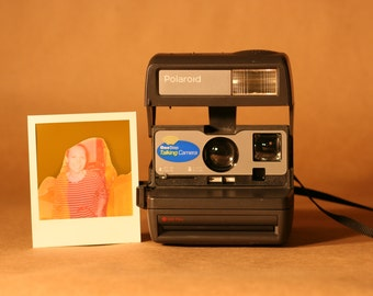 Polaroid OneStep 600 Talking Camera with Expired Film