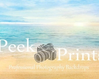 4ft.x3ft. Dreamy Beach- Sand and Water Vinyl Photography Backdrop