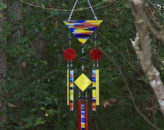 Handmade Handcrafted Stained Glass Wind Chime