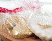 Glitter Gold Number Birthday cookies