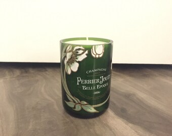 Recycled Perrier Jouet Champagne Candle