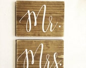 Mr. Mrs. signs, table numbers, wedding sign, wood wedding sign, seating signs