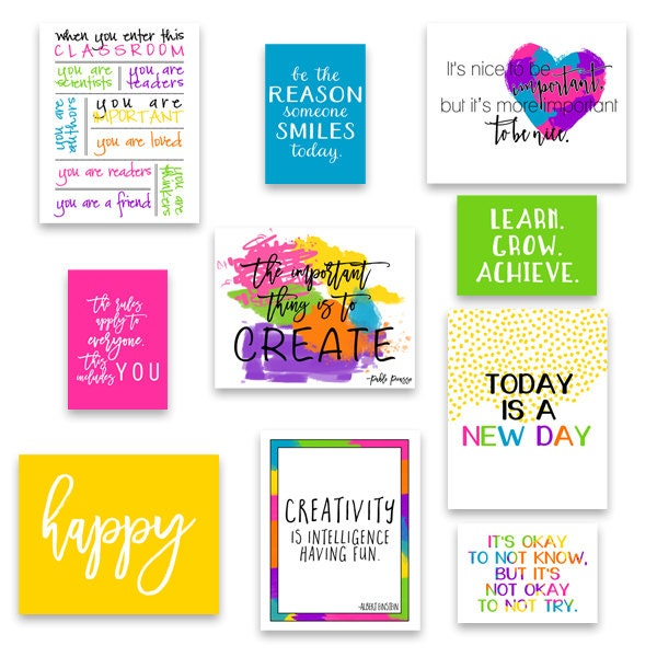 Set of 20 classroom art classroom decor kid 39 s wall art - Classroom wall decor ...