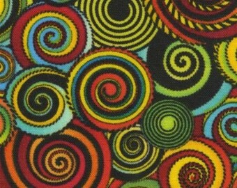 African Sunset Swirl Blender Cotton Fabric by Timeless Treasures Custom Listing 6 yards
