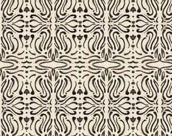A Close Shave, Filigree blender black and cream cotton fabric, Quilting Treasures
