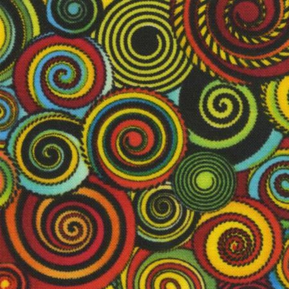 african sunset fabric
