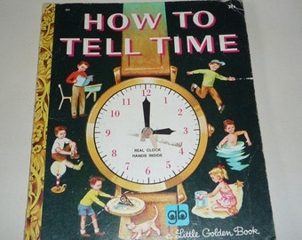on sale How to Tell Time A little Golden Book