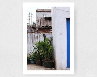 china - travel - urban photograph - buildings - abandoned - wall art - portrait - square prints | LARGE FORMAT PRINT