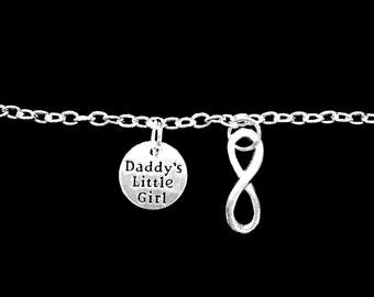 Gift For Her, Charm Bracelet Daddy's Little Girl Infinity Forever Daddy's Girl Gift For Daughter