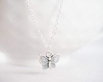 Butterfly necklace - butterfly jewelry - sterling butterfly - butterfly charm