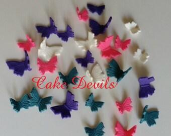 Butterfly Cake Decorations, Fondant Butterflies, Butterfly Cake Toppers, Butterfly CupCake Toppers, Fondant, Handmade Edible Butterflies