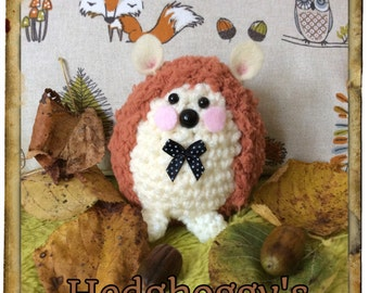 Crochet Hedghoggy Mr Hedghoggy