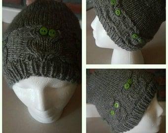 Handmade Knit Owl Hat