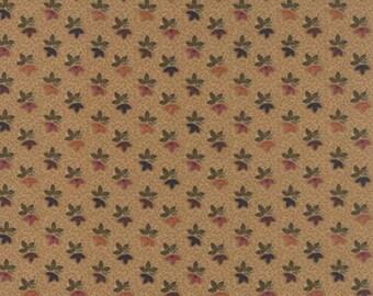 Moda Sunflower Song Reproduction Tan Leaf Trio  #9487-11