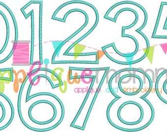 Applique Momma Applique Number Set Design