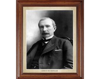 John D. Rockefeller portrait; 16x20 print on premium heavy photo paper