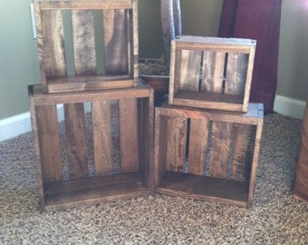 Wooden Nesting Boxes- Set of 4