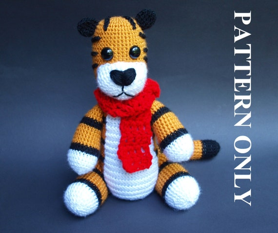 PATTERN: Crochet Hobbes Tiger Pattern. (With Removable
