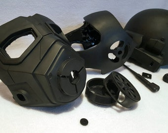 Fallout NCR Veteran Ranger Raw Cast Helmet Kit - 2nd Gen - Gas Mask, Post-Apocalyptic, Wastelands Gear - Now Available in Small and Large