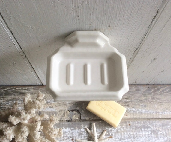 Vintage Porcelain Wall Mounted Soap Dish
