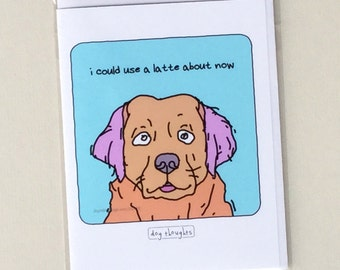 Golden Retriever Notecard - Latte Dog - NC-30DG - Great Dog Lover Gift - Collect All