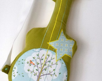 Guitar cushion green and lemon
