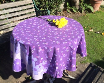 Vintage 1960's Floral Tablecloth