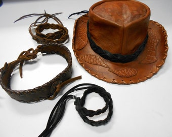 Leather Braided Hat Bands, Cowboy Hat Bands, Leather Hat Bands, Custom Hat Band, Hat Bands, Rodeo Hat bands, Hat bands for Riders, Hat Band
