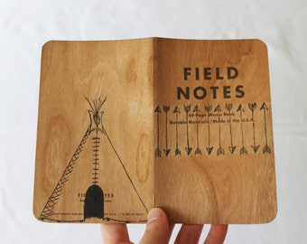 Field Notes Arrows Notebook,  Hand Painted Tepee Tipi Journal,  Pocket Moleskine Notebook, Gift for Him