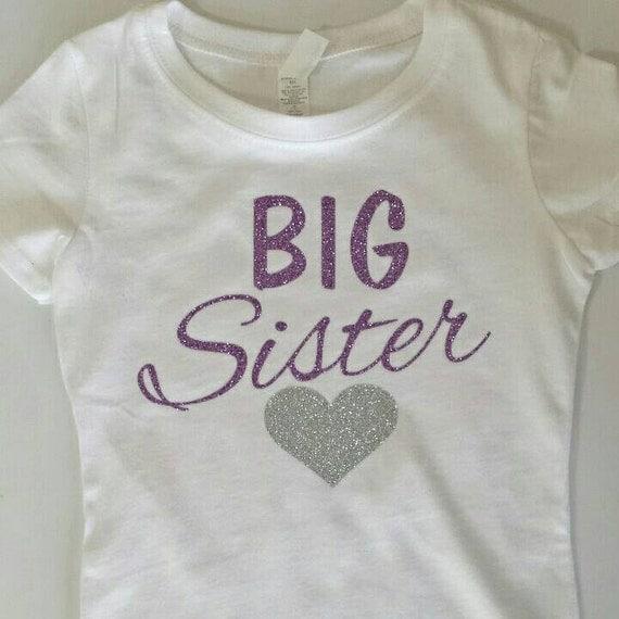 Big sister shirt big sister announcement big sister for Big sister birth announcement shirts