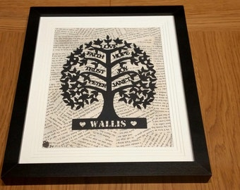 Papercut Family Tree
