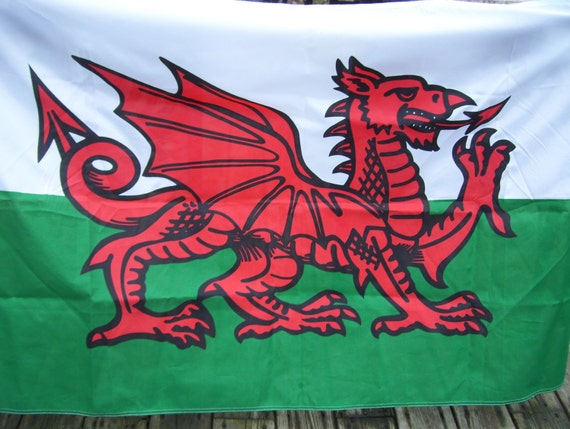 green white red dragon flag