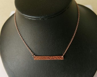 Handmade Rose Gold plated Sterling 925 silver necklace