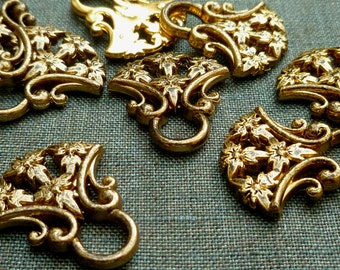 Dirndl hooks, antiqued brass colored, anodized plastic, Bavarian dress, octoberfest, beer garden, laced up bodice