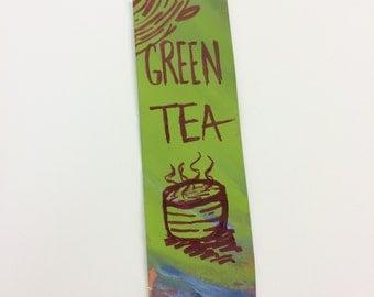 Green Tea Bookmark