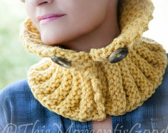 Loom Knit Cowl PATTERN Chunky Knit Cowl PATTERN The Word