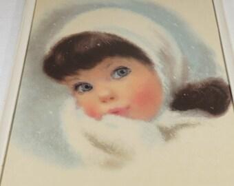 Winter Northern Tissue Girl Brunette Frances Hook Framed Print