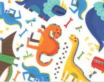 Dinosaur fabric etsy for Baby dinosaur fabric