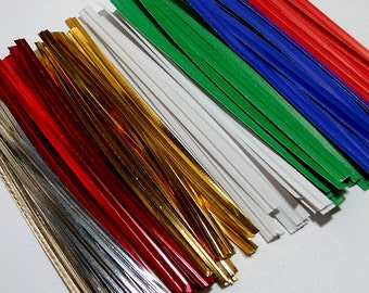 """Bag Twist Ties 4"""" - Paper or Foil"""