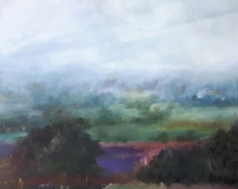 Landscape Painting oil on canvas 61x61cm