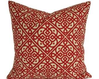 Red pillow cover, Red pillow, Throw pillow, Decorative pillow, Sham, Couch cushion, Sofa pillow, 16x16, 18x18, 20x20, 22x22, 24x24, 26x26